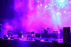 音乐会阶段 库存照片