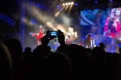 音乐会阶段 库存图片