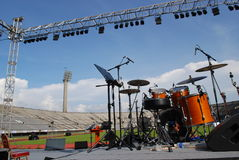 音乐会音乐会阶段 库存图片