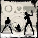音乐会grunge向量 免版税库存照片