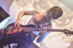 音乐会Hellfest男爵夫人,尼克Jost生活2017年 免版税图库摄影