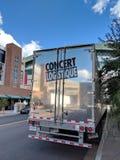 音乐会Logistique拖车在菲尼斯, AZ 库存照片