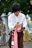 音乐作用泰国传统 免版税库存图片