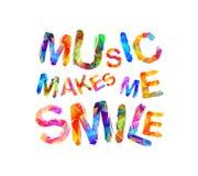 音乐使我微笑 三角信件 库存图片