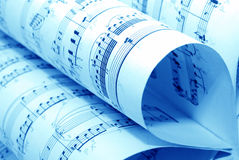 音乐便条纸 库存照片