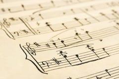 音乐减速火箭的页 免版税图库摄影