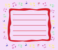 音乐卡片 免版税库存图片