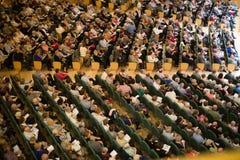 音乐厅Auditori Banda与观众的市政de巴塞罗那 免版税库存照片