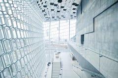 音乐厅harpa冰岛雷克雅未克 库存照片