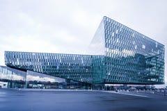 音乐厅harpa冰岛雷克雅未克 免版税库存图片