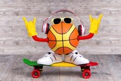 音乐和体育的概念 体育,休闲,娱乐,音乐是我们的最好的朋友 免版税图库摄影