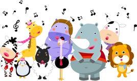 音乐和动物 向量例证