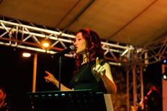 音乐和诗歌节日 免版税库存照片