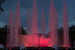 音乐喷泉在巴塞罗那 库存图片