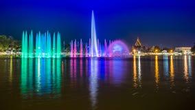 音乐喷泉 免版税库存图片