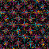 音乐圈子五颜六色的无缝的样式 向量例证