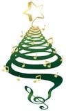 音乐圣诞树 库存图片