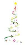 音乐圣诞树 免版税库存照片