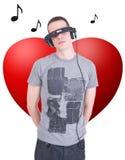 音乐在我的心脏 库存图片