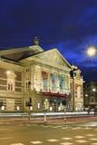 音乐堂在晚上,阿姆斯特丹,荷兰 图库摄影