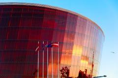 音乐堂巨大琥珀在利耶帕亚,拉脱维亚 库存照片
