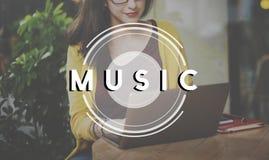 音乐多媒体无线电党生活方式概念 图库摄影