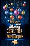 音乐夜事件的圣诞晚会飞行物,俱乐部海报 库存图片