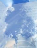 音乐天空 库存图片