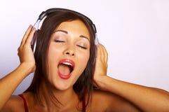 音乐妇女 库存图片