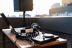 音乐娱乐的当代技术 库存图片