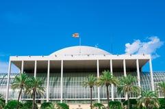 音乐宫殿在巴伦西亚,西班牙 免版税库存图片