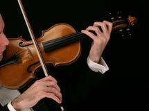 音乐家小提琴 免版税库存图片