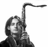 音乐家年轻人 免版税库存图片