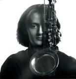 音乐家年轻人 免版税库存照片