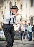 音乐家街道 免版税库存图片