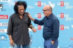 音乐家詹姆斯Senese和克劳迪奥Gubitosi 免版税库存图片