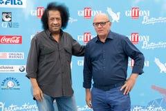 音乐家詹姆斯Senese和克劳迪奥Gubitosi 免版税库存照片