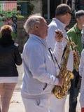 音乐家资深南贝尔一个乐团 免版税库存照片