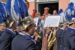 音乐家队伍复活节的在科孚岛 免版税库存图片