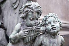 音乐家雕塑 图库摄影