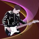 音乐家gitarist 库存照片