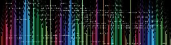 音乐容量调平器计算机科技概念 免版税库存图片