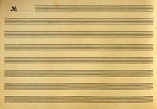音乐小册子或便条纸 库存照片