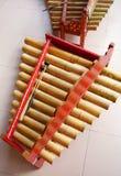 音乐巴厘岛gamelan的仪器 库存照片
