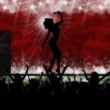 音乐当事人性能唱歌星形 免版税库存照片