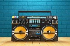 音乐录音磁带播放机recoreder 葡萄酒无线电FM球员 皇族释放例证