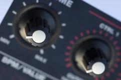 音乐抽样人员控制旋钮 免版税图库摄影