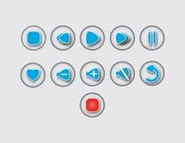 音乐按钮 免版税图库摄影