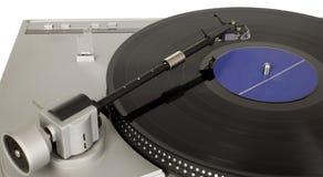 音乐播放器减速火箭的乙烯基 免版税图库摄影
