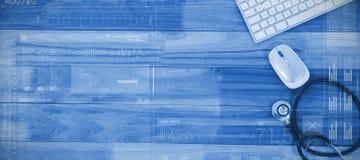 音乐播放器屏幕的综合图象  免版税库存图片